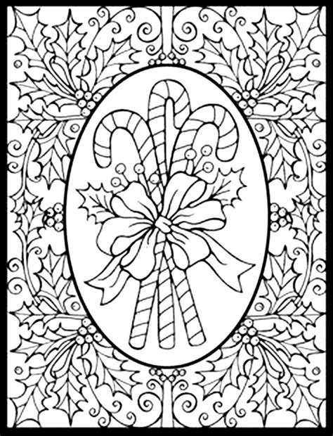 christmas coloring pages for adults selfcoloringpages com