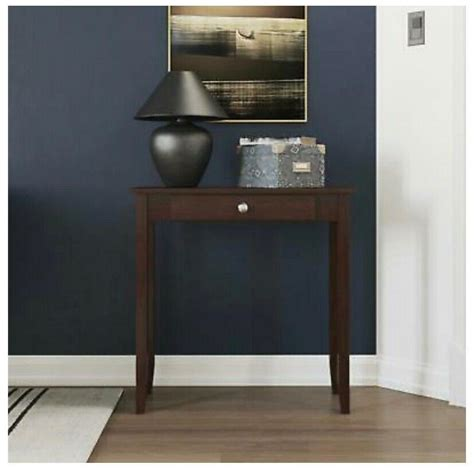 small console sofa table rectangular solid wood drawer