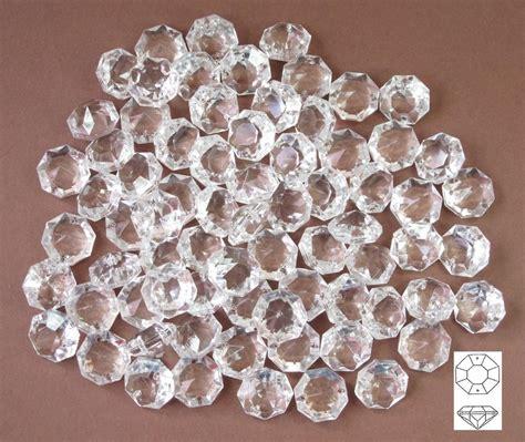 Lu 14 Mm Oktagon 50 st 252 ck kristalle 14mm glas octagon 2 loch f 252 r ketten
