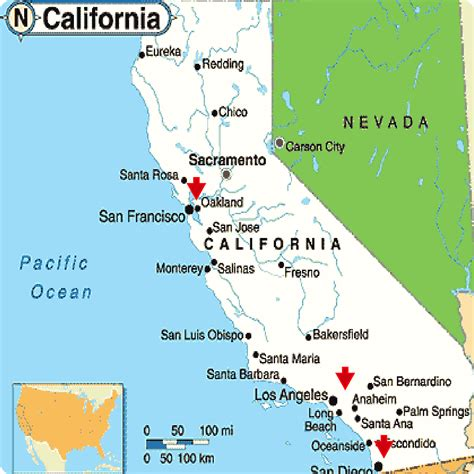 california cities map california map major cities california map