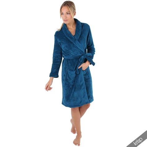 slippers and robe uk womens soft plain shawl collar dressing gown bath robe