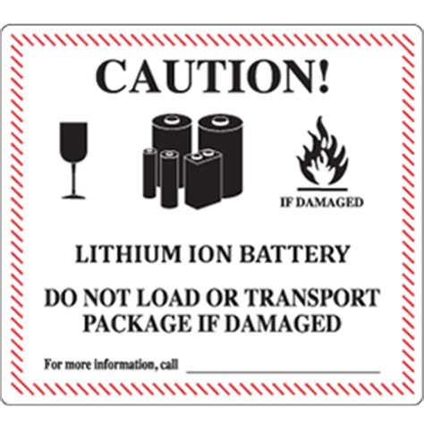 Shipping Lithium Batteries By Air 55th Iata Dgr Lithium Ion Battery Label Template