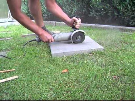 granitplatten schneiden gehwegplatte teilen