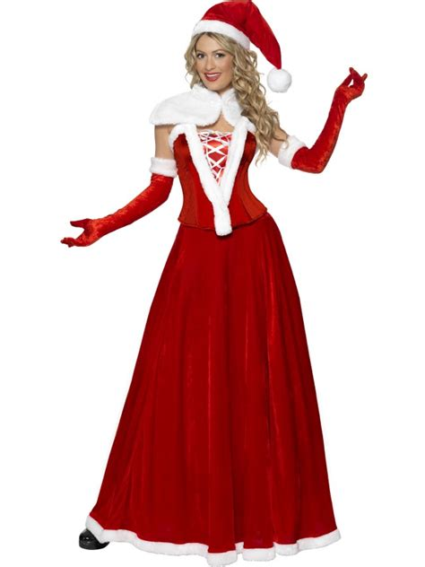 miss mrs santa claus ladies christmas fancy dress costume