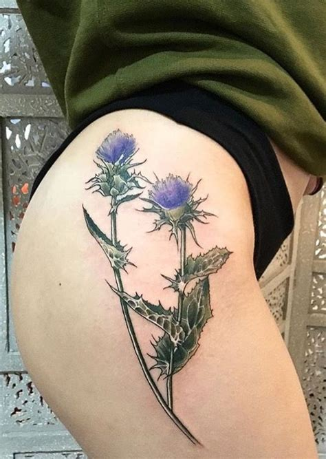 thistle tattoo pinterest vanessa core thistle flower tattoo watercolor tattoo
