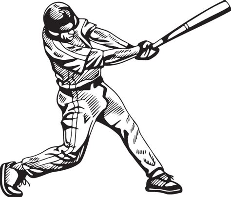 baseball player swinging bat clip art batting cliparts
