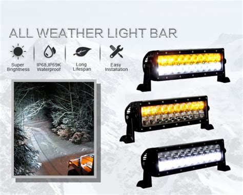 Putih 1 Inch 10 inch all weather light bar led auto lights