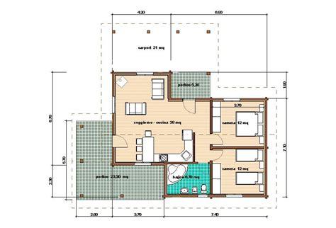 Pianta Casa 70 Mq by Progetti Di In Legno Casa 78 Mq Portico 29 Mq