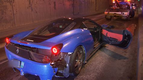 lamborghini crash costly crash lamborghini and ferrari collide in massey
