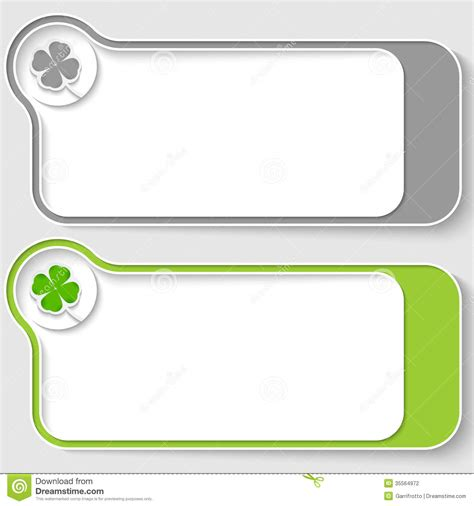text box design frame vector text boxes with cloverleaf stock photography image 35564972