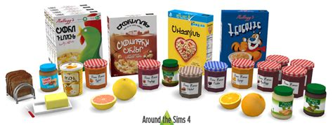 sims 4 food clutter around the sims 4 custom content download breakfast