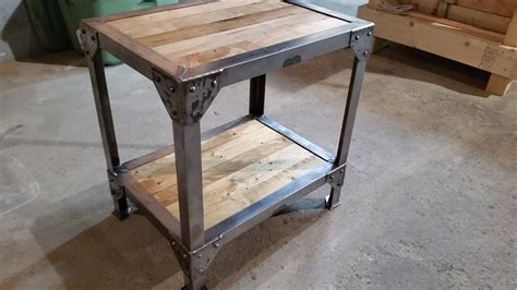 making  wood  metal side table  tables youtube