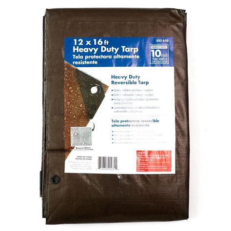 12 ft x 16 ft heavy duty tarp hd1216 the home depot