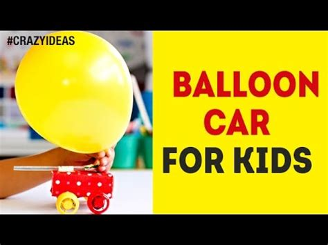 How to make balloon car for kids diy simple and easy experiments science project crazy