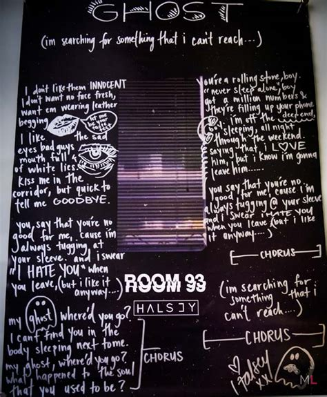 testo poster halsey wrote lyrics to quot ghost quot on this awesome