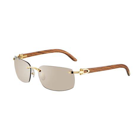 cartier rimless sunglasses with c decor golden finish