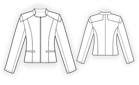 pattern making leather jacket leather jacket sewing pattern 4101 made to measure