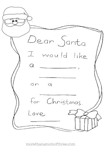dear santa coloring page christmas coloring pages printables