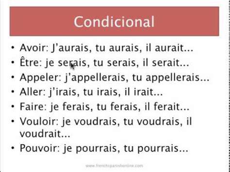 preguntas en futuro simple frances condicional en franc 233 s youtube