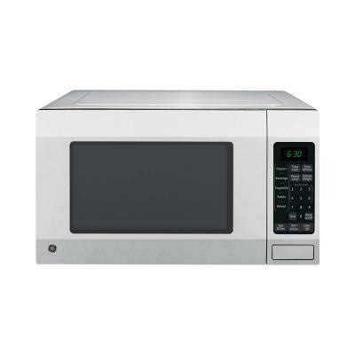 ge 1 6 cu ft countertop microwave oven in stainless