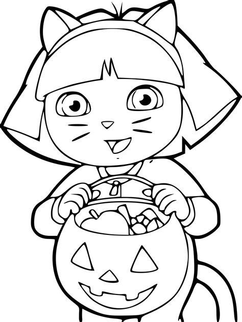 Coloriage Dora Halloween 224 Imprimer Sur Coloriages Info Dessin Gratuit Coloriage L