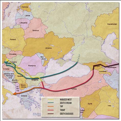middle east map high res analysis and gas pipelines in the middle east