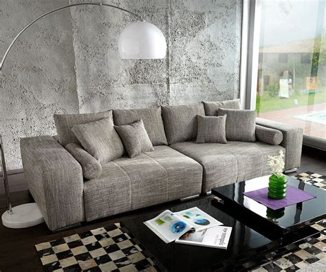 how big is a couch big sofa marbeya 290x120 cm hellgrau couch mit kissen m 246 bel sofas big sofas