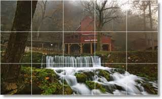 waterfalls photo wall tile mural w039 river scene wall tile mural r007