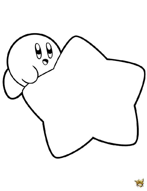 kirby super star coloring page kirby 233 toile est un coloriage de kirby