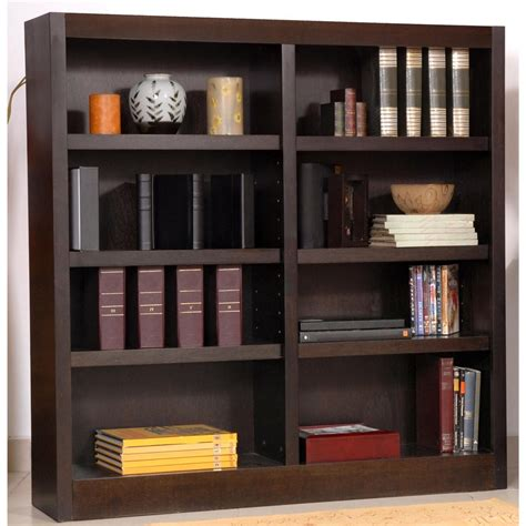 Concepts In Wood Double Wide 8 Shelf Bookcase 206544 Wide Bookshelves