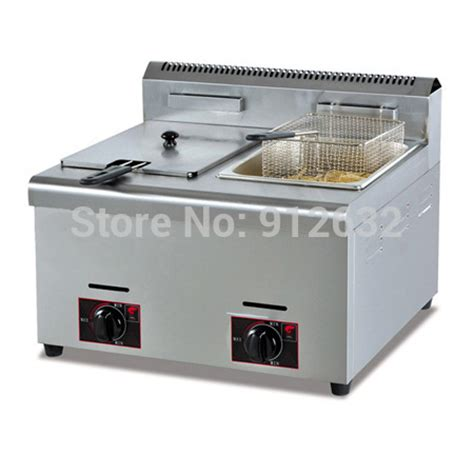 professional design gas fryer counter top gas fryer