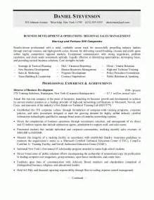 business development resume or sales management resume