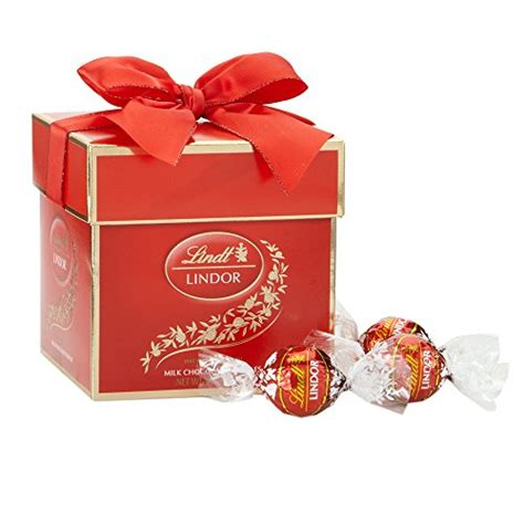 lindt lindor truffles milk chocolate token gift box 4 7oz