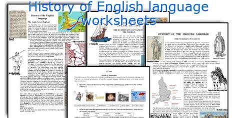language history teaching worksheets history of language