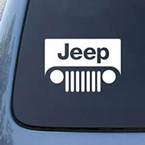 Jeep Logo Decal Graham Jeep Logo Grill Style 6 Quot White Decal