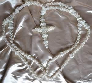wedding lasso wedding lasso true white with pearls and cross lazo by casaaraiza