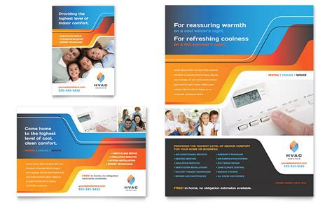 advertising brochure templates free hvac flyer ad template design