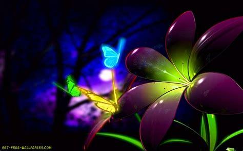 wallpaper flower 3d download fluorescent 3d flowers wallpaper