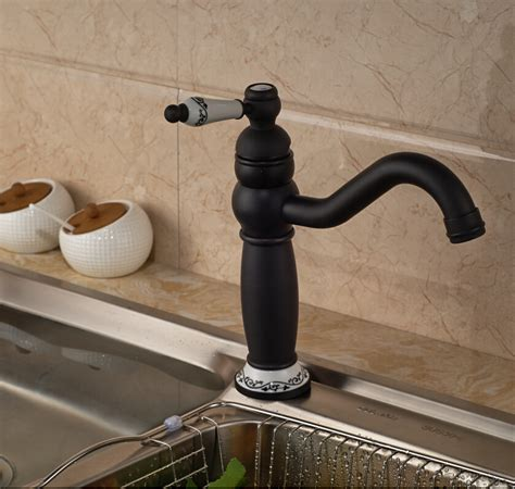 kitchen sink handles flume rubbed bronze single handle kitchen sink faucet