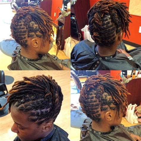 128 best images about short loc styles on pinterest loc simple hairstyles for short locs hair