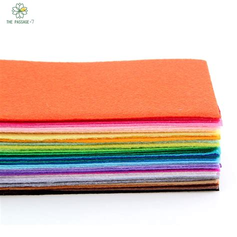 Felt Patchwork - polyester felt fabric nonwoven mixed colors patchwork diy