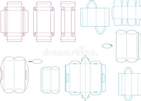 box template collection  eps stock vector illustration