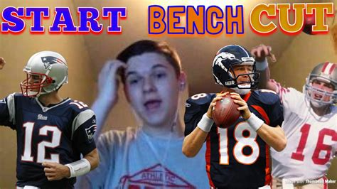 start or bench nfl edition start bench cut youtube