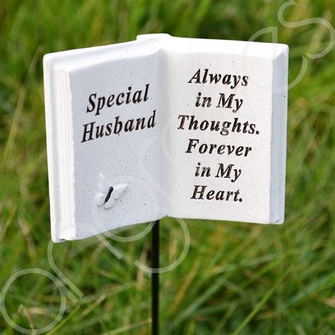 special message to my husband special husband memorial book tribute stick with message grave graveside plaque ebay