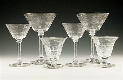 fine crystal barware fine antique hand cut crystal stemware set of six retro