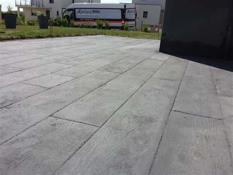 terrasse beton sol ext 233 rieur en b 233 ton imprim 233 liss 233 dans le finist 232 re
