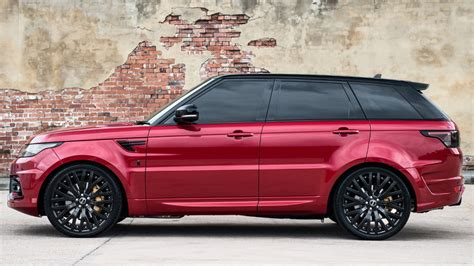 Entry Door Colors by Kahn Reveals Stunning Firenze Red Range Rover Sport 400le