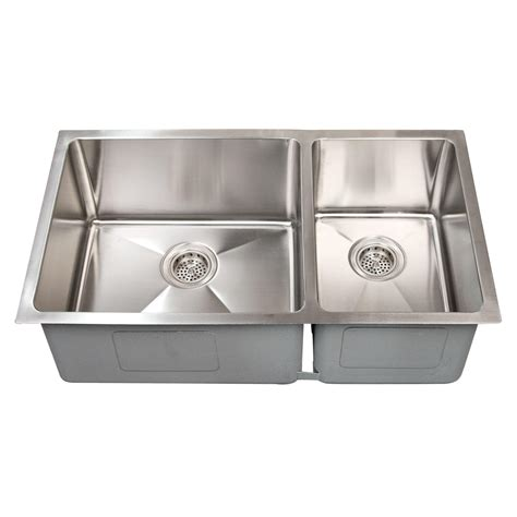 Stainless Undermount Kitchen Sinks 32 Quot Optimum 60 40 Offset Bowl Stainless Steel Undermount
