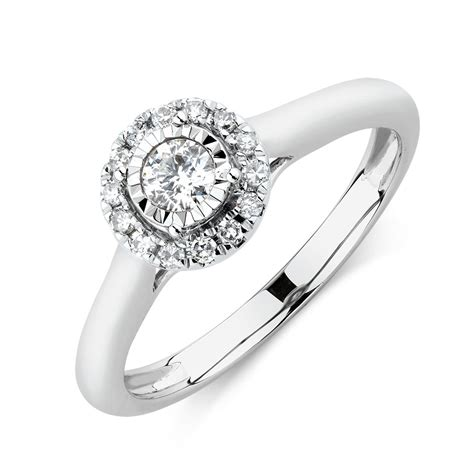 Engagement Ring With 1 Carat Tw Of Diamonds In 14ct Yellow by Engagement Ring With 1 4 Carat Tw Of Diamonds In 10ct