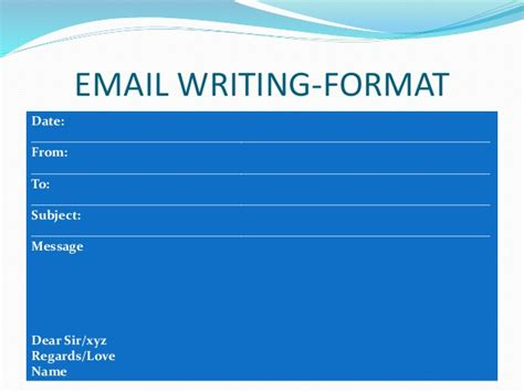 email format cbse writing skills secondary school